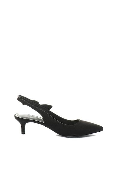 Esprit Pantofi slingback de piele intoarsa ecologica, cu varf ascutit Femei