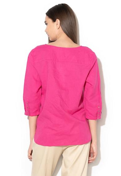 Esprit Блуза с лен и 3/4 ръкави Жени
