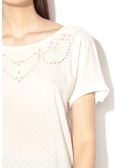 Esprit Bluza cu maneci scurte si garnituri din dantela crosetata Femei