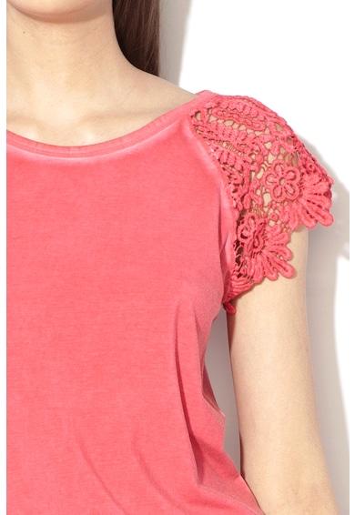 Esprit Tricou din amestec de modal cu perforatii Femei
