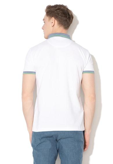 Esprit Slim fit póló kontrasztos szegélyekkel férfi