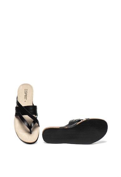Esprit Papuci de piele peliculizata, cu bareta separatoare Femei