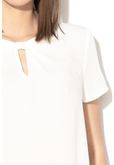 Esprit Bluza cu model texturat si fronseuri pe partea din fata Femei