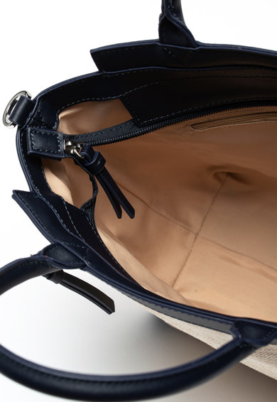 EDC by Esprit Geanta de mana, din amestec de in, cu garnituri de piele ecologica Femei