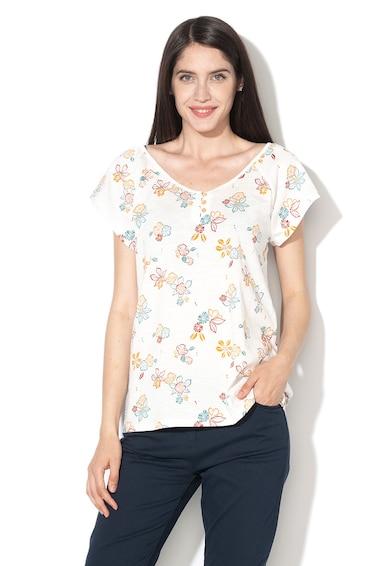 Esprit Bluza cu maneci scurte si model floral Femei