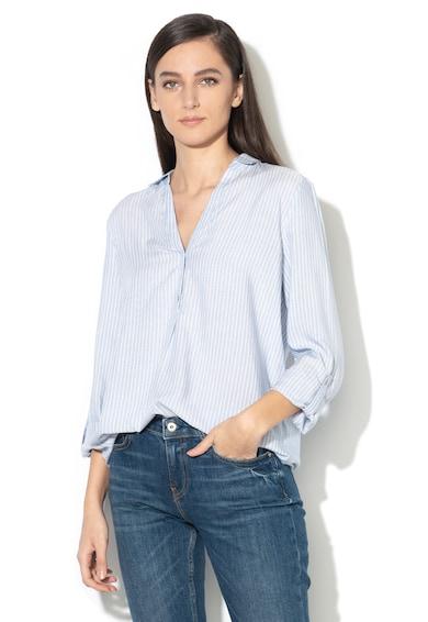Esprit Bluza tip tunica in dungi cu fenta lunga cu nasturi Femei