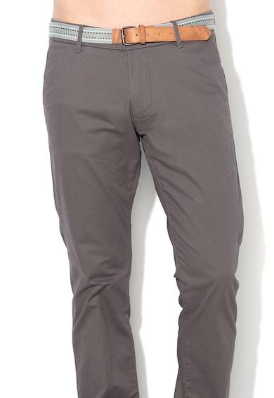 Esprit Pantaloni chino slim fit cu o curea 4 Barbati