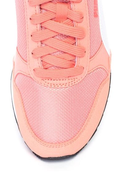 Puma Мрежести спортни обувки ST Runner, Розово-оранжев Момичета