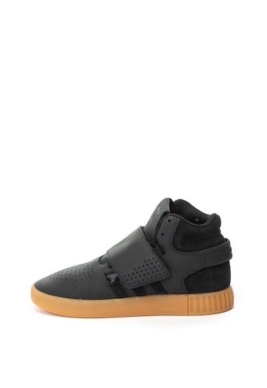 Adidas ORIGINALS Pantofi sport mid-high de piele, cu banda Tubular Invader Barbati