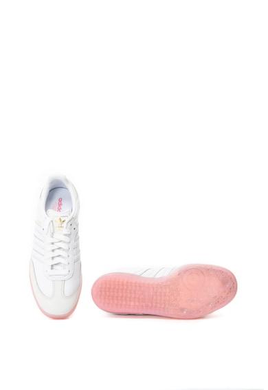 adidas Originals Pantofi sport de piele si piele nabuc Samba Femei