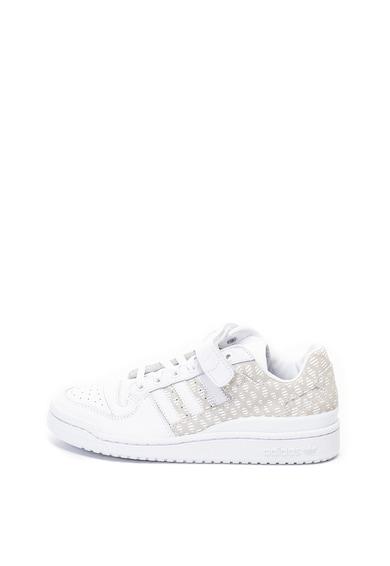 adidas Originals Pantofi sport de piele si piele intoarsa Forum Femei