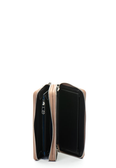 Trussardi Jeans Portofel convertibil de piele ecologica Easy Light Femei