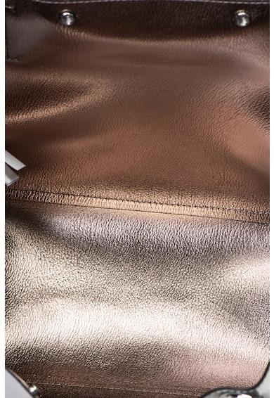 Guess Geanta de piele ecologica, cu bareta de umar si aspect metalizat Kinley Femei