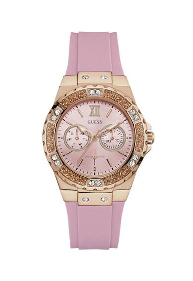 Guess Часовник със силиконова каишка и кристали Жени
