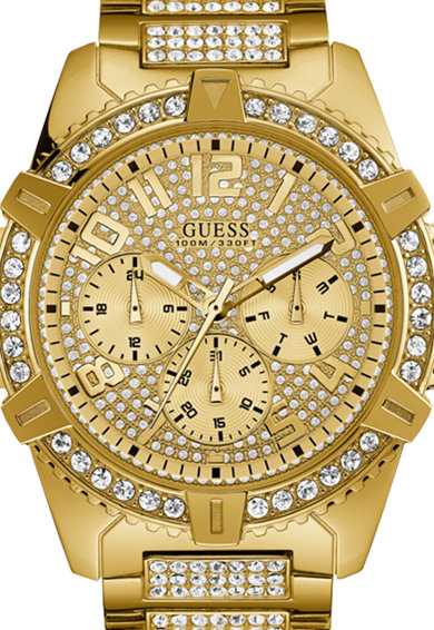 Guess Кварцов часовник с кристали Мъже