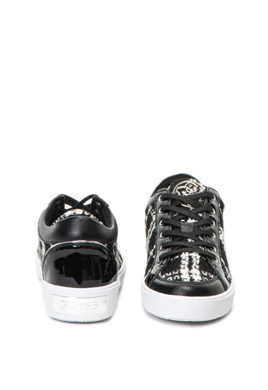 Guess Kockás cipő bőrbetétekkel női