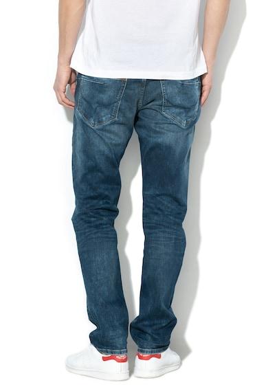 Pepe Jeans London Blugi cu croiala dreapta si aspect decolorat Zinc Barbati