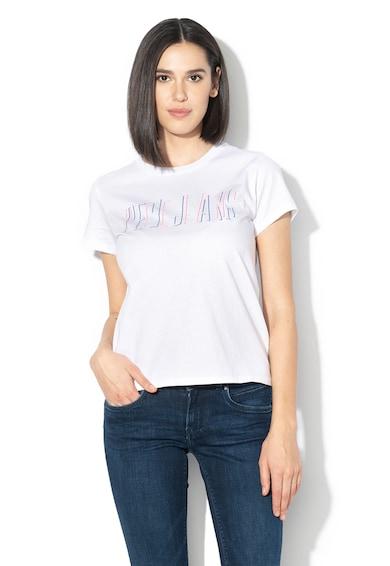 Pepe Jeans London Тениска Carol с лого Жени