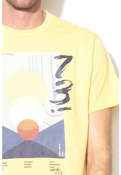 Pepe Jeans London Tricou regular fit cu imprimeu grafic Corey Barbati