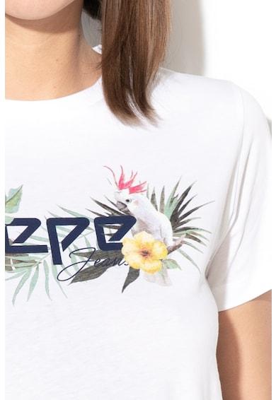 Pepe Jeans London Tricou cu imprimeu logo Pilar Femei