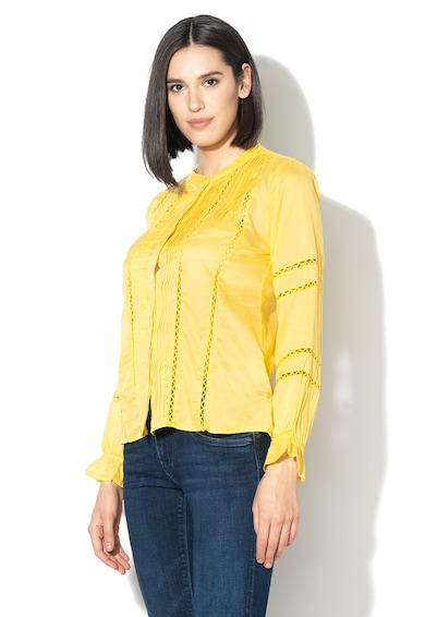 Pepe Jeans London Tricou cu guler tunica si terminatie asimetrica Isabelle Femei