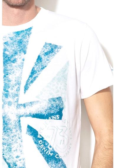 Pepe Jeans London Tricou slim fit cu imprimeu grafic Ian Barbati