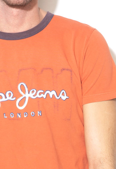 Pepe Jeans London Tricou slim fit cu imprimeu logo Marlon Barbati