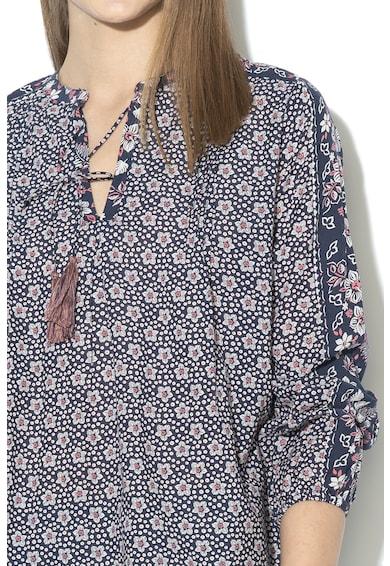 Pepe Jeans London Bluza tip tunica cu imprimeu Anya Femei