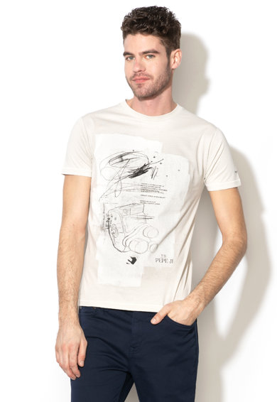 Pepe Jeans London Tricou slim fit cu imprimeu grafic Gent Barbati