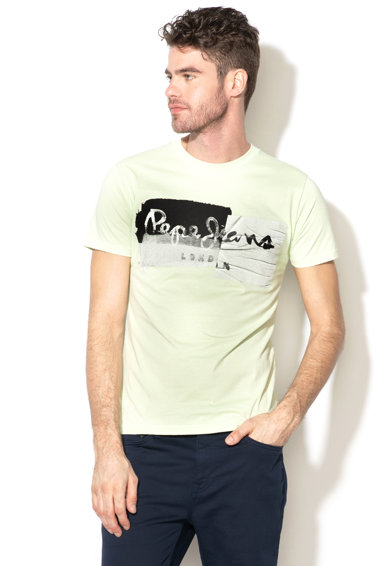 Pepe Jeans London Tricou slim fit cu imprimeu grafic Stepney Barbati