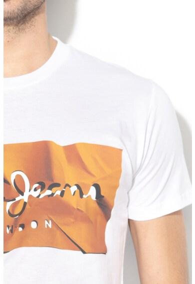 Pepe Jeans London Вталена тениска Raury с щампа Мъже
