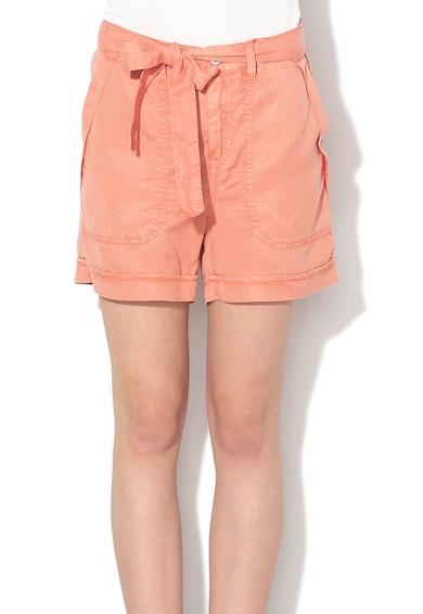 Pepe Jeans London Pantaloni scurti regular fit din lyocell cu cordon Nomad Femei