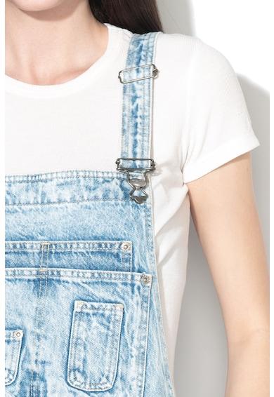 Pepe Jeans London Salopeta scurta de denim, cu cordon Femei