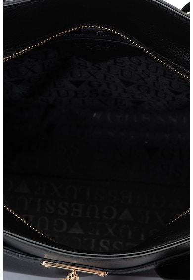Guess Кожена чанта с метално лого Жени
