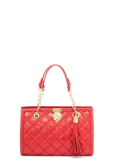 Guess Кожена чанта с капитониран ефект Жени