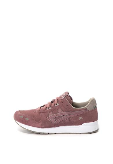 Asics Pantofi sport unisex, de piele intoarsa cu imprimeu logo Gel-Lyte Barbati