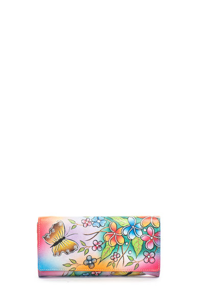 Niarvi Portofel de piele, pictat manual Femei