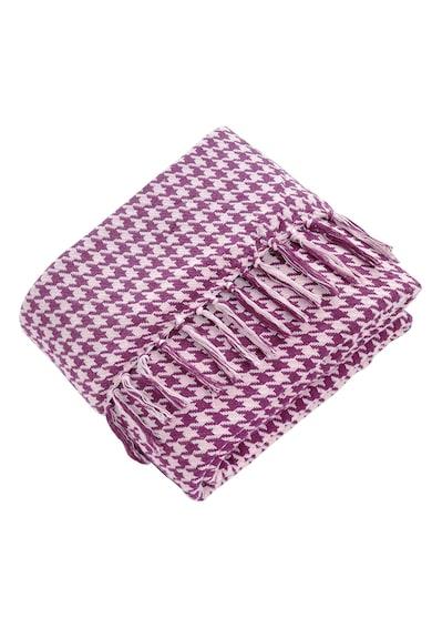 Home Still Patura Throw Cozy cu ciucuri Home Stil, 80% bumbac, 20% PES, 200x230 cm, model retro de impletitura Femei