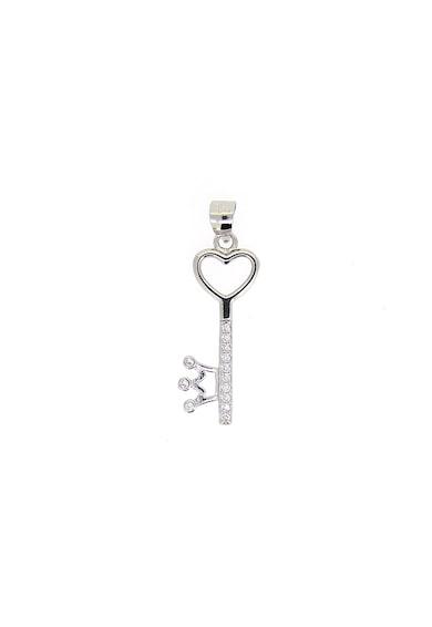 Rankine-Silver Pandantiv de argint 925 in forma de cheie cu cristale de zirconiu Femei
