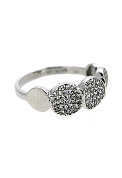 Rankine-Silver Inel de argint 925 decorat zirconia Femei