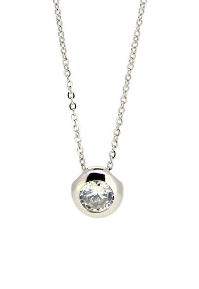 Rankine-Silver Colier dublu, decorat cu cristale zirconia, din argint 925 Femei