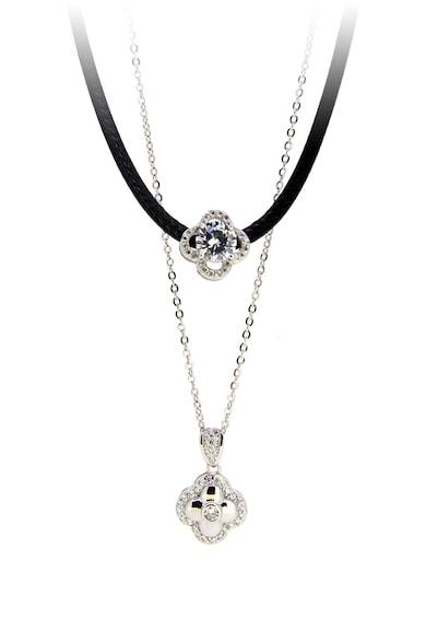 Rankine-Silver Colier cu mai multe siraguri decorat cu cristale Femei
