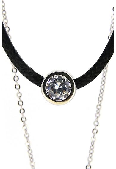 Rankine-Silver Colier de argint cu mai multe siraguri si cristale Femei
