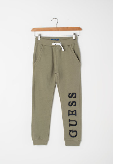 GUESS JEANS Pantaloni sport cu logo contrastant Baieti