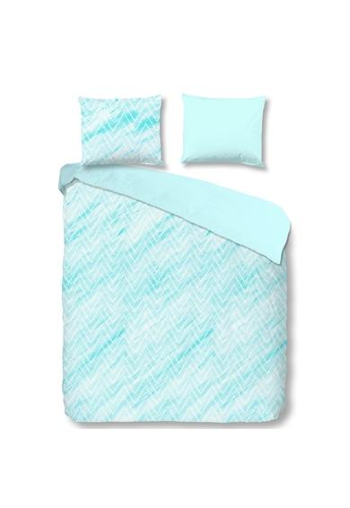 Good Morning Lenjerie de pat pentru 2 persoane Sharon Blue  100% bumbac Femei