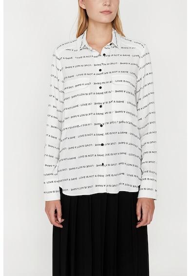 KOTON Camasa cu model text Femei