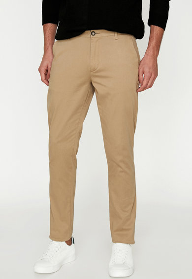 KOTON Pantaloni slim fit cu lungime chino Barbati