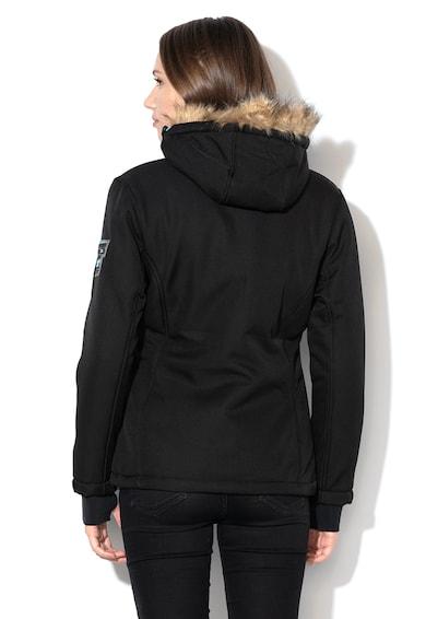 Geographical Norway Geaca cu gluga si garnitura de blana sintetica Rafale Femei
