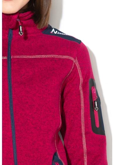Geographical Norway Bluza sport cu fermoar si logo brodat Tebelle, Femei