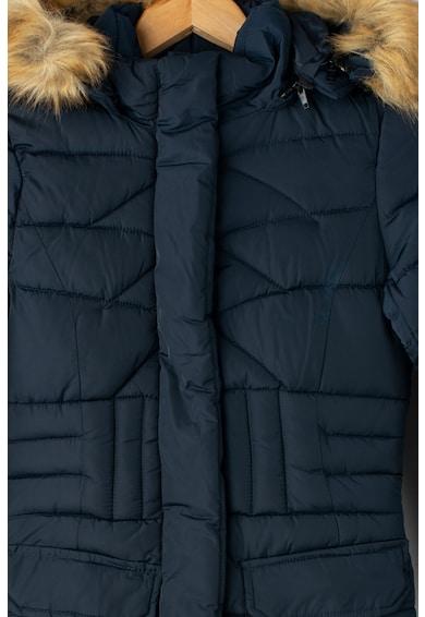 Geographical Norway Annael hosszú bélelt télikabát kapucnival Fiú